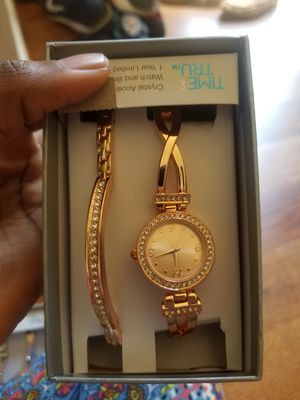 Crystal Acer watch and bracelet for Sale in Crofton, MD