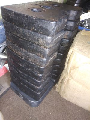 12 - 15 lbs cast iron weights total 180 lbs. for Sale in Brownsville, TX