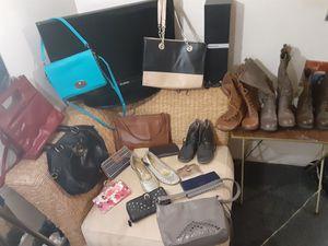 Clothes purses wallets boots for Sale in Tucson, AZ
