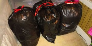 3 Large Black Lawn Bags FULL of Like New Infant Girl 3-6 Clothes and Necessities for Sale in Lakewood, OH
