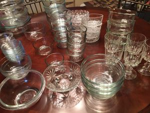Pyrex & Misc Clear Glassware Total 60 pieces for Sale in Winter Haven, FL