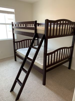 Used Full Full Bunk Bed with Mattresses for Sale in Murrieta, CA