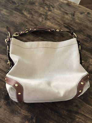 Coach Carley canvas with leather trim purse for Sale in Phoenix, AZ