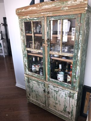 "Vintage Wood Hutch (Tribeca Manhattan) 66 1/2""H x 37""W x 12""D for Sale in New York, NY"