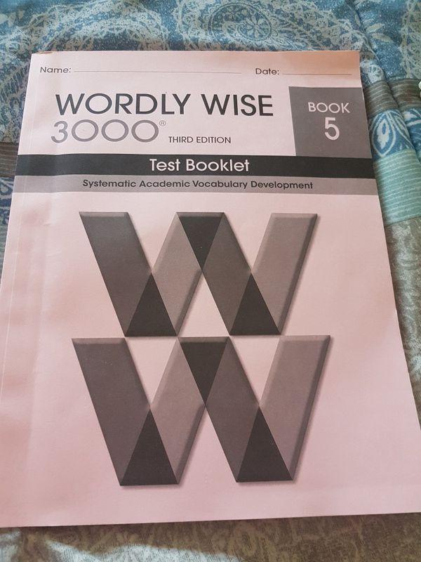 worldy wise 5 test book