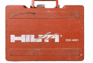 USED HILTI DX451 POWDER ACTUATED FASTENING NAIL GUN TOOL + CASE * DX 451 for Sale in Orlando, FL