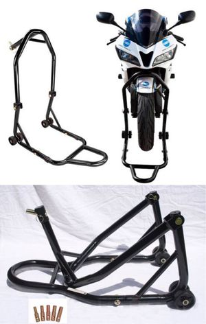 New in box Front Head Yoke Triple Tree Motorcycle Sport Bike Black or red Stand maintenance lift for Sale in Covina, CA