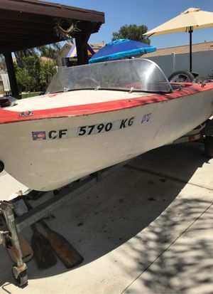 14'ft Boat with trailer for Sale in Bloomington, CA