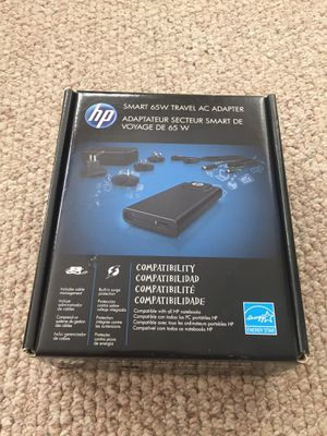 HP Smart 65W Travel AC Adapter 65W new for Sale in Woodinville, WA