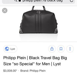 Philip Plein Luxury Leather Travel Bag for Sale in Los Angeles, CA