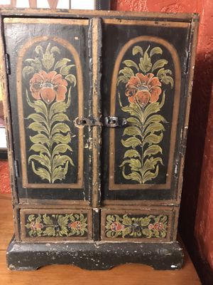 Antique hand painted cabinet for Sale in Long Beach, CA