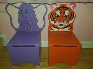 Chairs for kids with storage for Sale in Des Plaines, IL