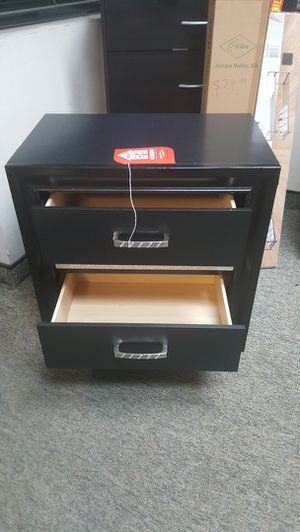 Miranda 2 Drawer Nightstand, Black for Sale in Fountain Valley, CA