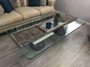 Large glass coffee table for Sale in Sun City, AZ