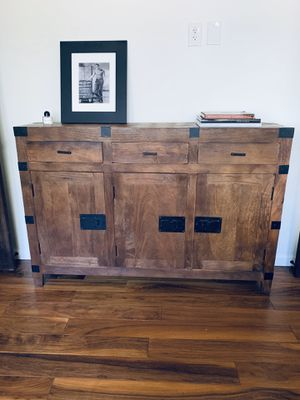 Reclaimed solid wood buffet table or tv console for Sale in Los Angeles, CA