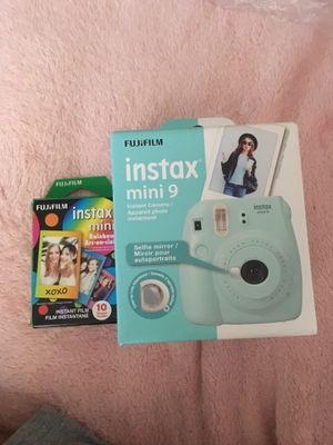 Instax mini 9 fujifilm Polaroid Camera + film for Sale in Atlanta, GA