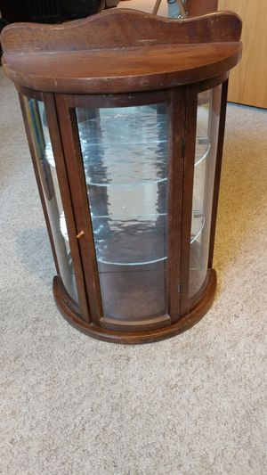 Antique Curved Glass Curio Shelf for Sale in Lynnwood, WA
