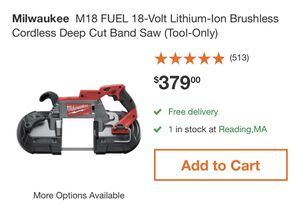 Milwaukee Deep cut Band saw cordless and case for Sale in South Attleboro, MA