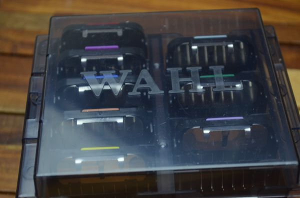 Wahl stainless steel attachment guide comb kit 8 combs and case