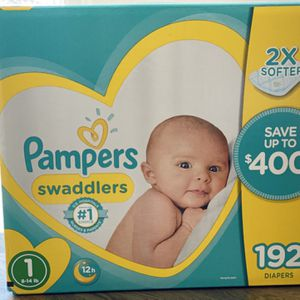 Brand New Box of 192 Pampers Sz 1 for Sale in Covina, CA