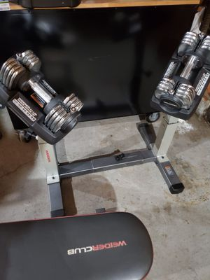 Weider club powerswitch 100 with base and bench for Sale in Renton, WA