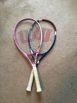 Male and female Wilson tennis rackets for Sale in Randleman, NC
