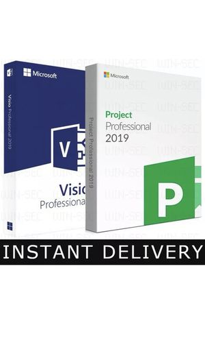 Microsoft Project 2019 Professional & Visio 2019 Professional for Sale in Beverly Hills, CA