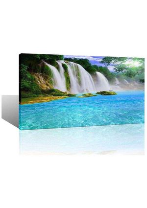 Large Waterfall Wall Art for Living Room Bedroom Canvas Print Home Decoration Wildlife Landscape Picture Ready to Hang Framed Artwork 24x48 for Sale in Norco, CA