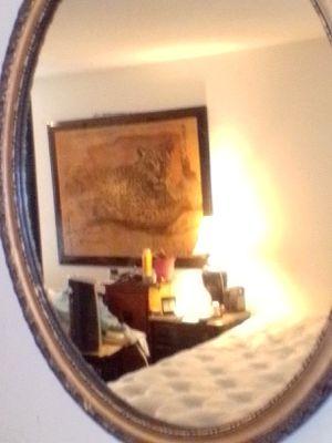 24X30in oval mirror frame find w gold trim for Sale in Tulsa, OK