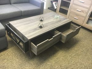 Melody Coffee Table / Center Table, Distressed Grey and Black for Sale in Garden Grove, CA