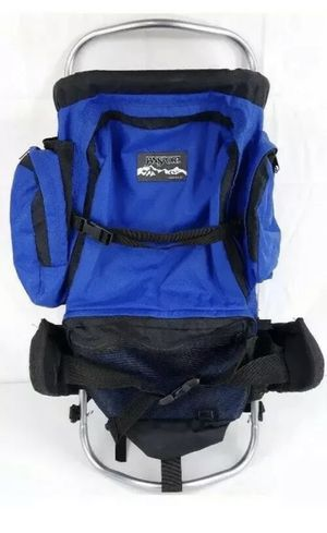 Vintage Jansport External Frame Blue/Black Backpack Hiking Camping Hip Wings for Sale in Bethel, CT