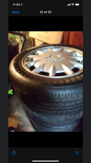 Rims and tires 215. 55. R16 for Sale in Baltimore, MD