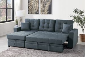 Brand New! Gray/Blue Convertible Luxury Sectional for Sale in Orlando, FL