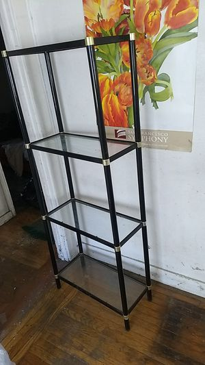 Glass shelving unit for Sale in Oakland, CA
