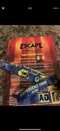 Escape selling Saturday GA only for Sale in La Verne, CA