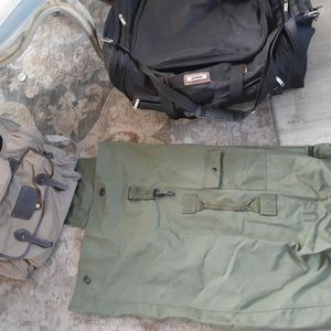 Duffle bags (Us Army,(( Eddie Bauer(sold)) And Hipack) for Sale in Murrieta, CA
