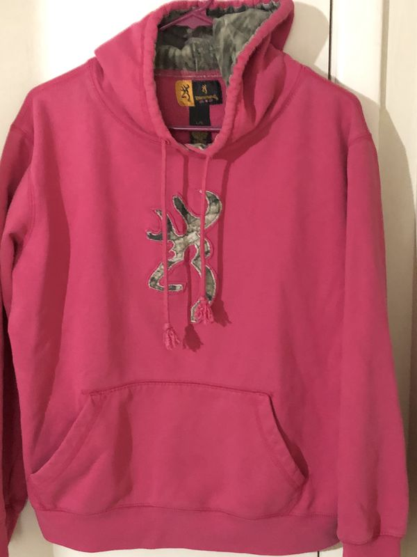 L Browning Hoodie Hot Pink/Camo