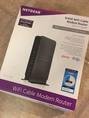 Netgear Wireless Gateway Cable Modem WiFi Router N300 for Sale in McKinney, TX