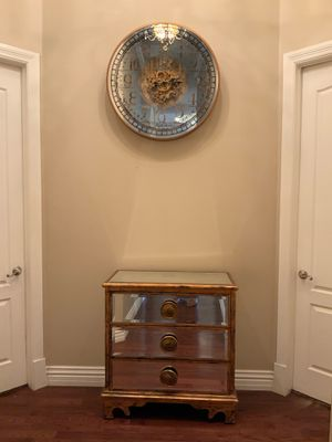Mirror wall table and clock for Sale in Little Elm, TX