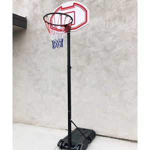 "$50 (new in box) junior basketball hoop 28""x19"" backboard adjustable rim height 5-7ft kids outdoor sports for Sale in Whittier, CA"