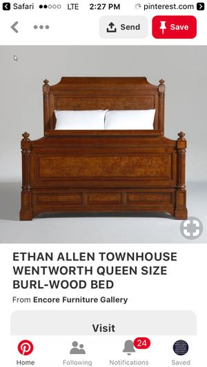 Ethan Allen REAL wood queen bed frame for Sale in DORCHESTR CTR, MA