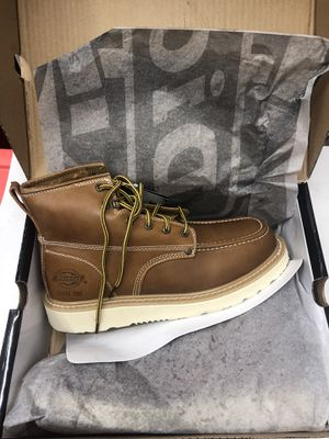 🇺🇸💥 Dickies Men's Trader 6 in. Work Boots - Steel Toe - TAN Size 9.5(M) for Sale in Los Angeles, CA