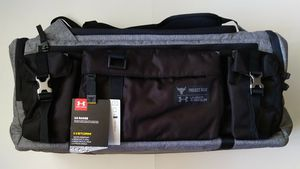 Under Armour x Project Rock UA Range Duffle Bag Backpack Gray Black 1325332 New for Sale in Phoenix, AZ