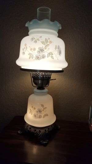 Vintage Hurricane Lamp Blue White 3-Way Switches for Sale in Phoenix, AZ