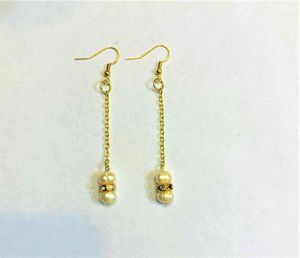 Bridal earring Natural fresh water Pearl Earring brides gift wedding gift for her for Sale in Peoria, IL