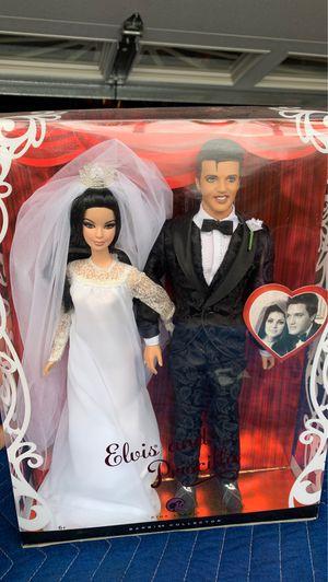 Barbie Collector ELVIS and PRISCILLA Dolls WEDDING DAY Collector SET (2008) for Sale in Garden Grove, CA