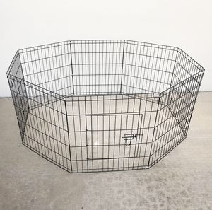 "New $30 Foldable 24"" Tall x 24"" Wide x 8-Panel Pet Playpen Dog Crate Metal Fence Exercise Cage for Sale in South El Monte, CA"