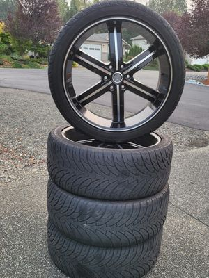 "24"" U2 U55 Black M. Wheels & Tires for Sale in Bonney Lake, WA"
