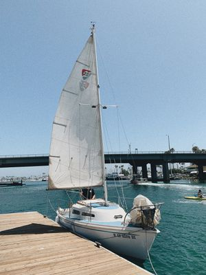COLUMBIA 23 SAILBOAT WITH TRAILER for Sale in Huntington Beach, CA