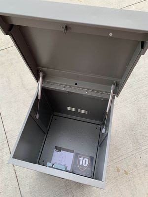 New in box 18x18x22 inch tall parcel package safe storage locker with digital security digital lock or key safe tool box for Sale in San Dimas, CA